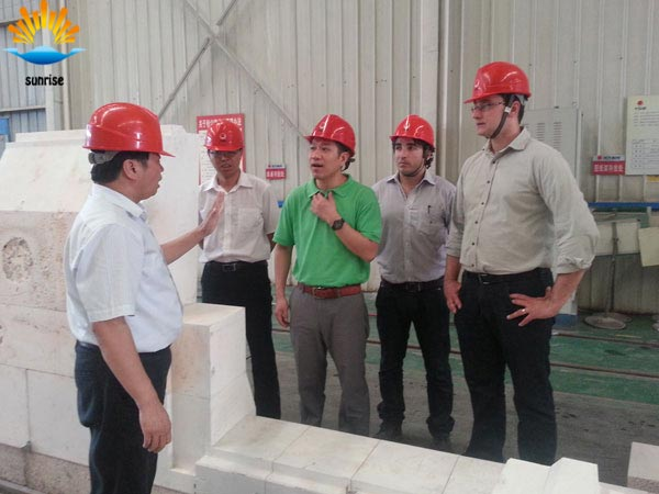 Brazilian customers to experience our brick factory