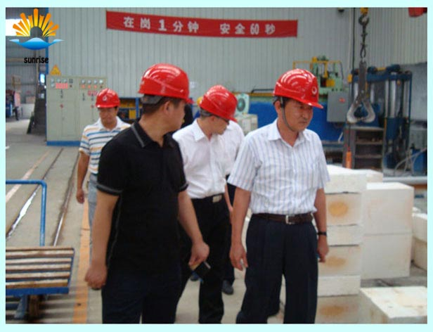 Korean customers come to our factory inspection brick